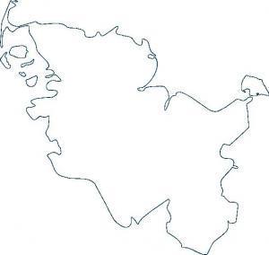 Umriss Schleswig Holsteinkarte